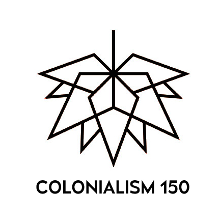 Colonialism 150 logo by Eric Ritskes
