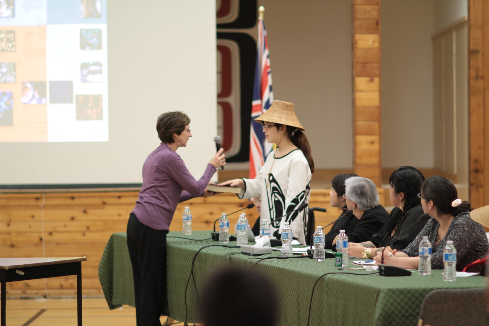 Enbridge hearing, Hartley Bay BC (Photo: Sarah Reid)