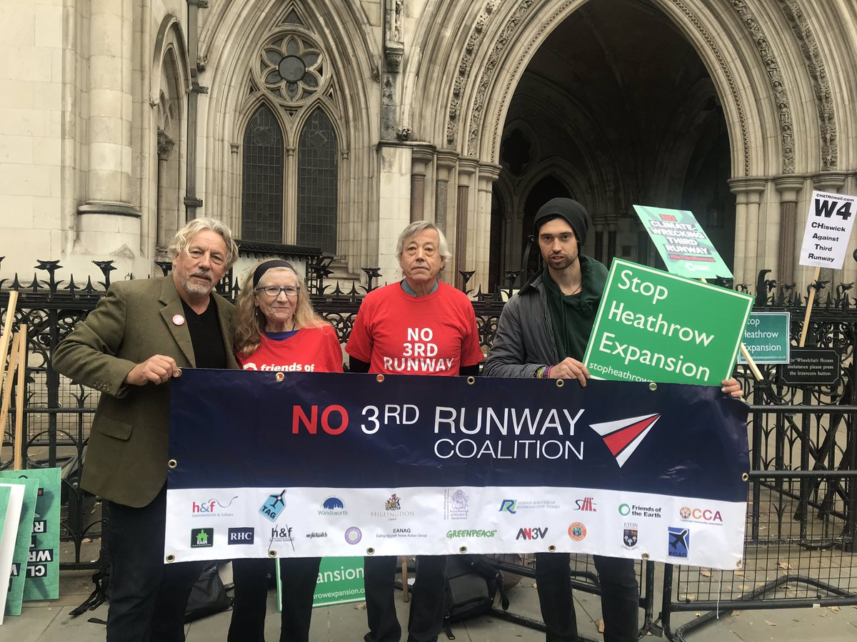 Legal action to stop Heathrow Third Runway (Photo: Stay Grounded via Flickr)