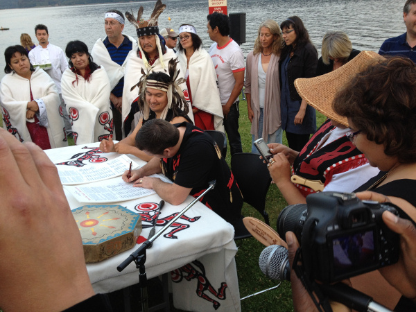 Squamish and Tsleil-Waututh Nations sign the Fraser Declaration