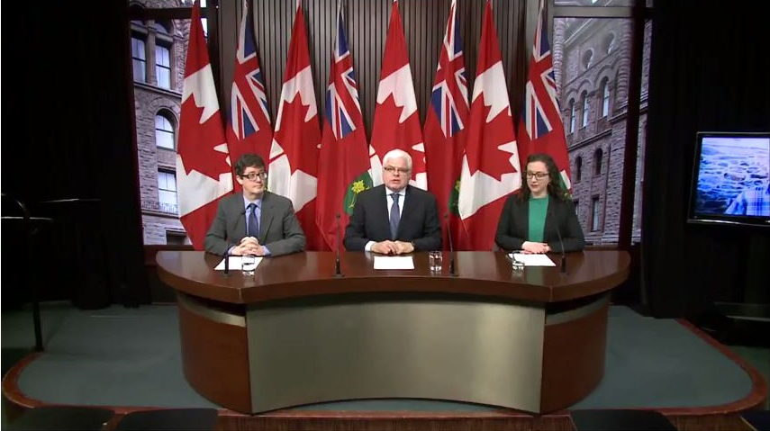 Press conference for Ontario Liability for Climate-Related Harms Act