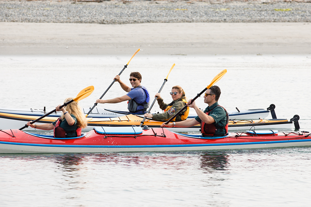 Trudeau kayaks in Gulf Islands, 2017 (Prime Minister's Office)