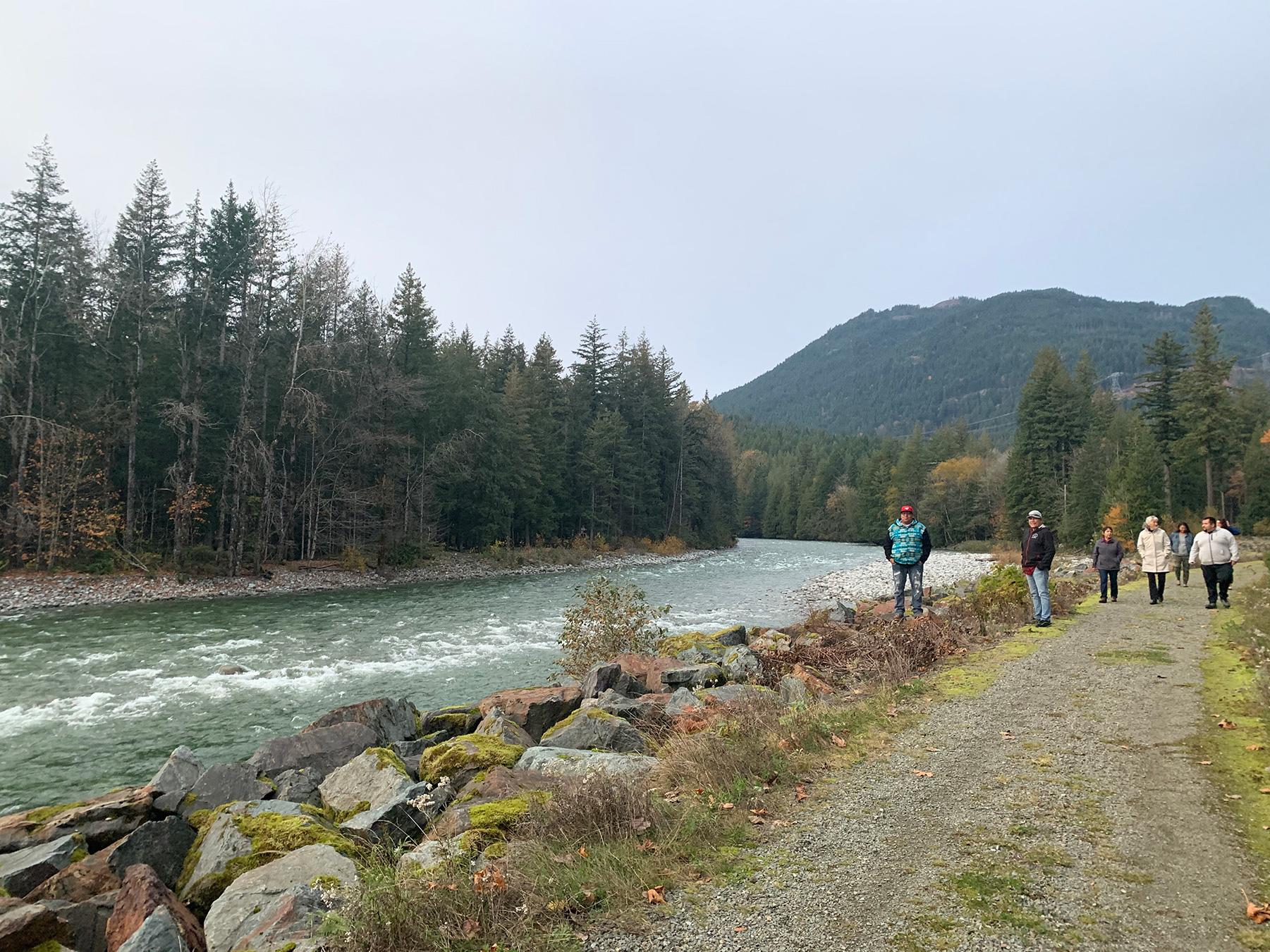 RELAW team members walk by the river during a retreat (Photo: Shelby Lindley)