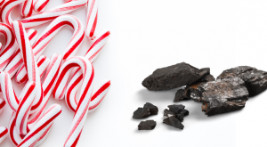 Candy canes and lumps of coal