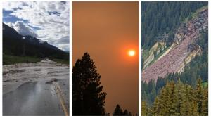 Flooding, wildfire smoke and landslide