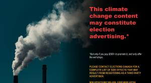 Climate Change Election Advertising Warning