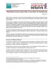 KM Trans Mountain Legal Brief