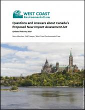Revised Q&A about Canada's Proposed New Impact Assessment Act