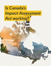 Impact Assessment Act report cover with Canada map