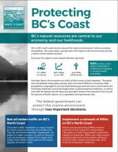 Protecting BC's Coast Infographic